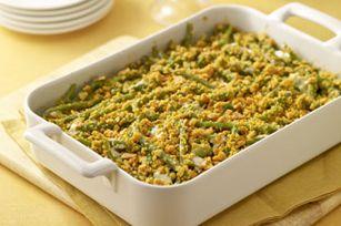 Creamy Garlic-Green Bean Casserole recipe  http://www.kraftrecipes.com/recipes/creamy-garlic-green-bean-casserole-120929.aspx
