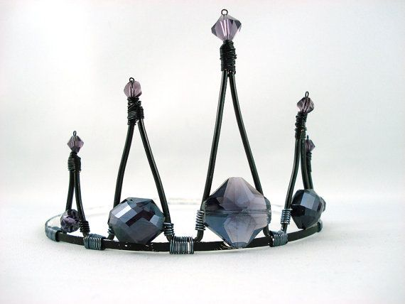 Evil Princess - Purple and Black Crystal Tiara - Made to Order via Etsy