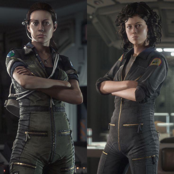Alien Isolation Amanda Ripley proving jumpsuits can be sexy.