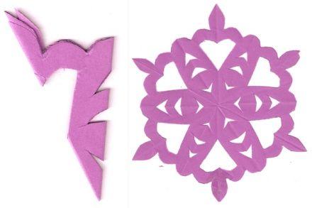 Kirigami snowflake pattern