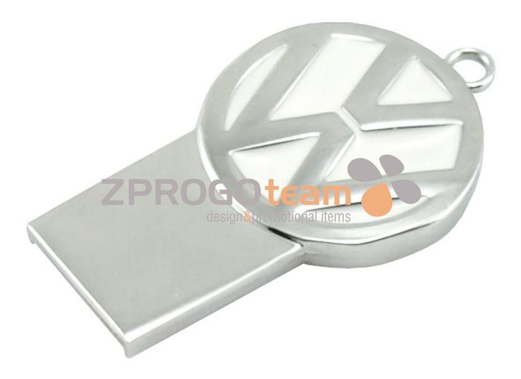 NEW: Promotional metal mini USB flash drive Volkswagen.