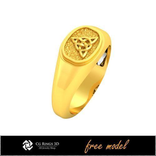 3D CAD Unique Celtic Ring-Free 3D Model | 3D Print Model
