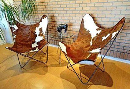 Classic Leather di copertura della pelle bovina BKF farfalla Sedia - Solo copertina