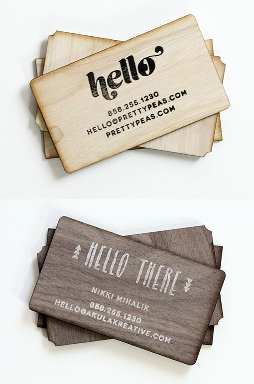 355 best cool business cards images on pinterest creative business diy hand stamped wooden business card design reheart Gallery