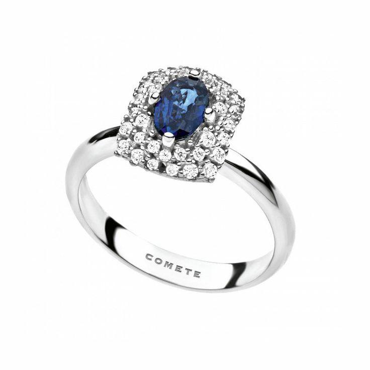 Anello con diamanti e zaffiro Comete - ANB 1701