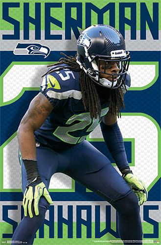 Richard Sherman Shutdown Seattle Seahawks Official NFL Poster - Costacos 2014