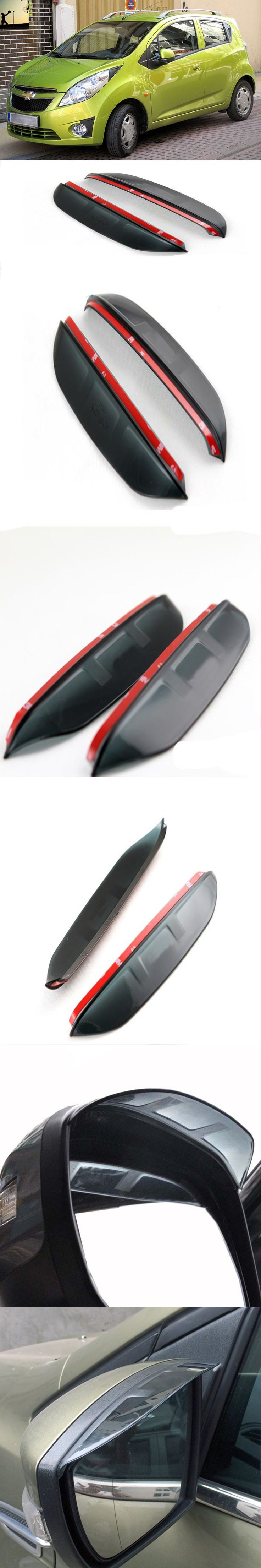 For Third generation Chevrolet SPARK M300 2009 to 2015 Rearview mirror rain eyebrow reflective mirror side mirror rain visor
