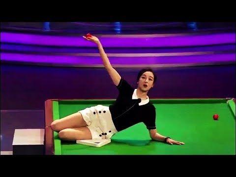 Cute Chinese Girl Snooker Trick Shot | ft. Ding Junhui