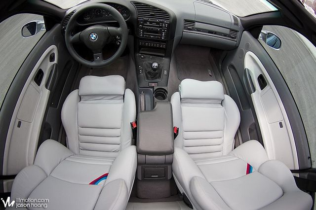 Awesome grey Vader seats in an E36 BMW M3