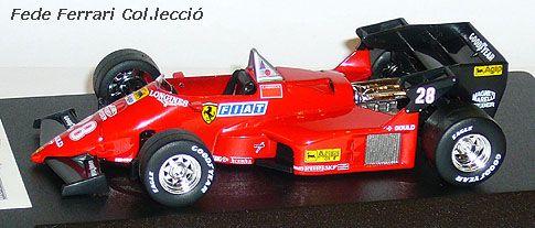 Ferrari 126C4 F1 Turbo de 1984 de René Arnoux, realizado por IXO a 1:43,  para un coleccionable de la Gazzetta dello Sport en Italia