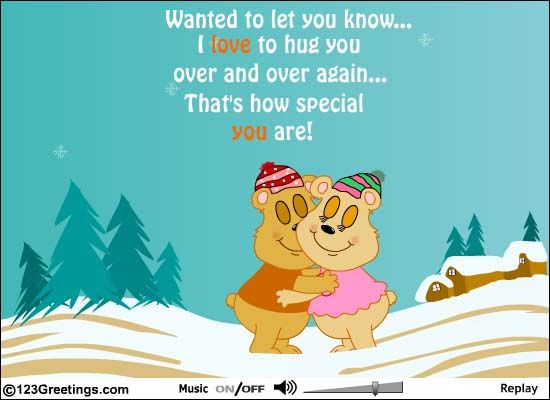 #Hug out your feelings for your loved ones with a cuddly sweet gesture.  #InternationalHugDay #Ecard. www.123greetings.com