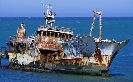 Graveyard of ships: The Zoetendal, Birkenhead and Arniston are some of the many shipwrecks found along the Agulhas coastline. Remains of the Meisho Maru 38 wreck still to be seen on shores of Cape Agulhas.