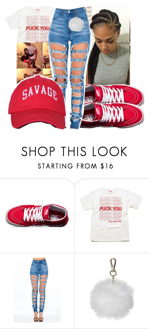 """Untitled #347"" by gabb-slayy ❤ liked on Polyvore featuring Vans, Mishka and Topshop"