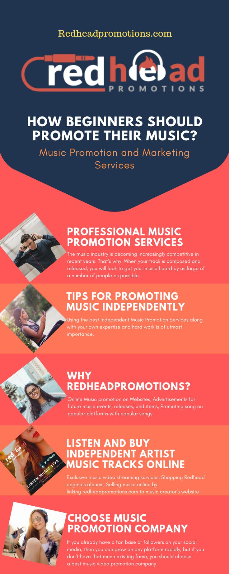 Redhead Promotions News   Signup, Submit & Sell Music Online