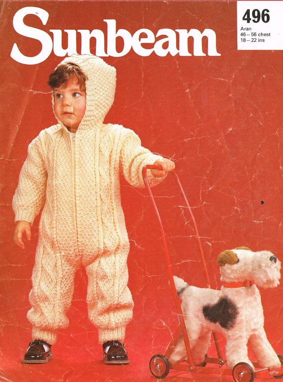Knitting Patterns For Baby Jumpsuits : Sunbeam 496 baby jumpsuit vintage baby knitting by Ellisadine - casting on! I...