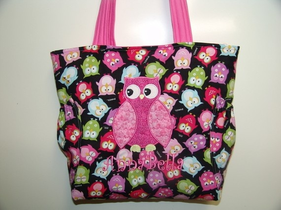 Owl Applique Girls Quilted Diaper Bag by TheTurtleTrain on Etsy, $49.00 - UM I NEED!