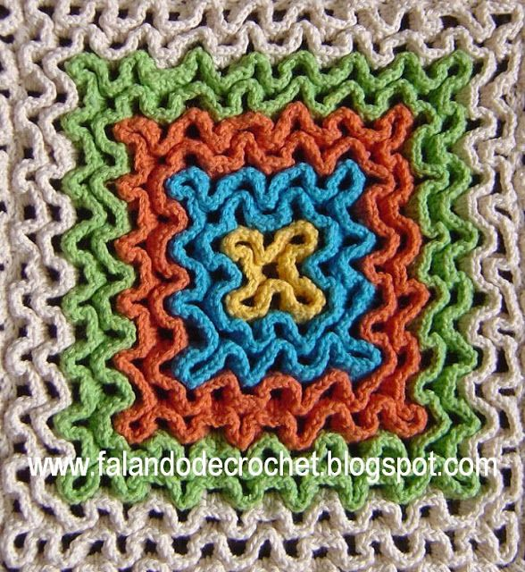 """FALANDO DE CROCHET"": Crochet Blankets, Crochet Rugcool, Crochet Rugs Cool, Crochet Instructions, Wiggly Crochet, Crochet Patterns, Crochet Carpets, Crochet Knits, Crochet Inspiration"