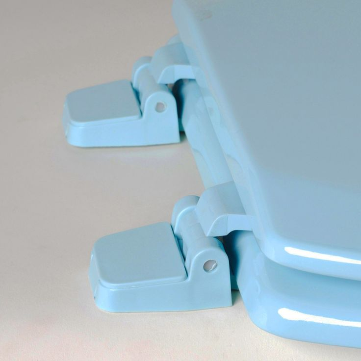 Comfort Seats C1B4R2-45 Deluxe Molded Wood Toilet Seat, Round - Regency Blue – Toilets – Bed & Bath - GreyDock.com