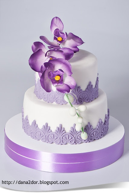 Pirple Orchids Cake