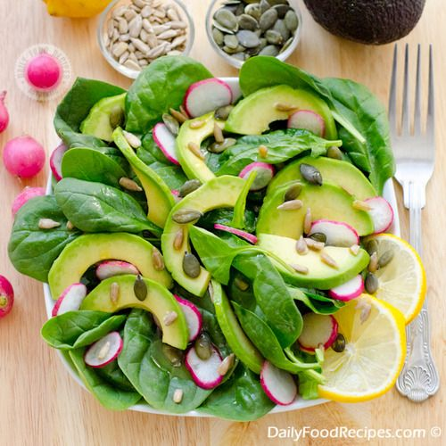 Spinach And Avocado Salad | Yummyyyy get in my tummy | Pinterest