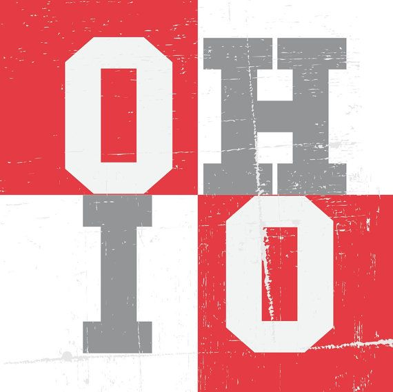 14x14 OHIO STATE Custom Designed Canvas Art Professionally printed on cotton canvas. All of my canvas prints come gallery wrapped {already