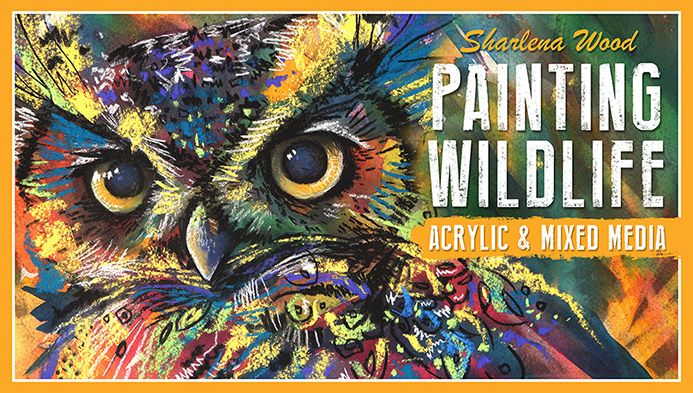 絵画の野生生物:アクリル&ミックスメディア