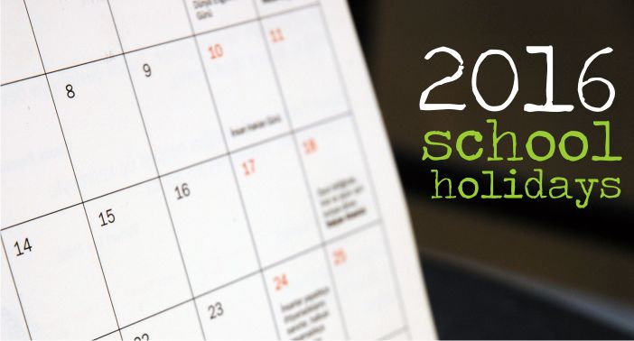 They say the best way to get over a holiday is to start planning your next one! Get a jumpstart on 2016 by marking your diaries now with the school holidays. Set out below are the School …