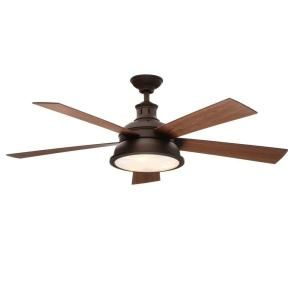 Hampton Bay Marlton 52 in. Oil-Rubbed Bronze Ceiling Fan YG305-ORB at The Home Depot - Mobile