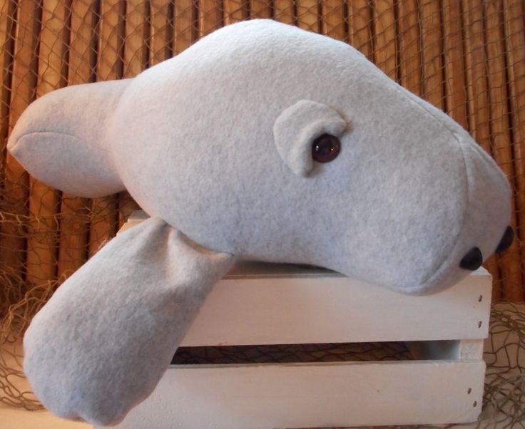 Manatee toy, sea cow toy, manatee plushie, stuffed manatee, sea animal toy, grey manatee, aquatic toy, manatee cushion by Fleeceofnature on Etsy