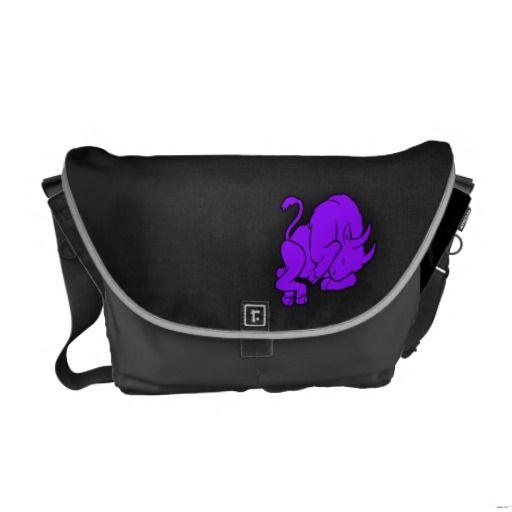 Violet Purple Taurus Courier Bags