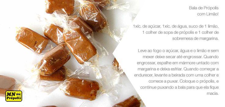 Prontos pra ficar com água na boca? Então vamos lá! Receita do dia: Bala de Própolis com Limão:www.mnpropolis.com.br/