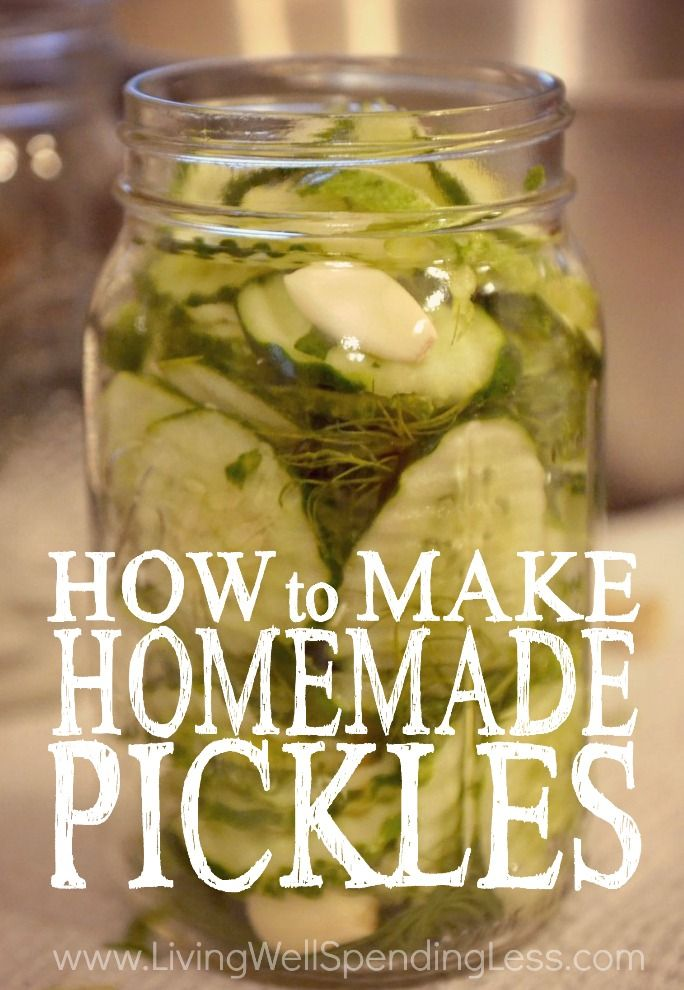 Got a pickle craving?  This awesome step-by-step tutorial for making homemade pickles is SO easy to follow, even if you've never made them before!  Who knew it was this simple?!