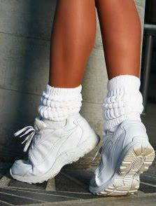 Remember slouchy socks?  Another 80's must have, unless you work at the Hoot, then u wear them every day!!