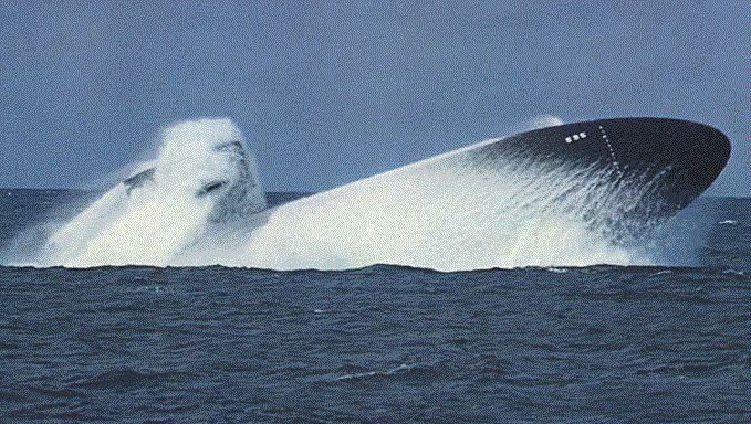 USS Birmingham (SSN 695) makes a dramatic surface                                                                                                                                                                                 More