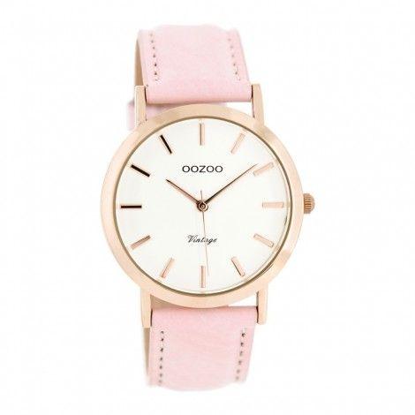 Koop dit OOZOO Vintage Roze/Wit horloge C8103 (38 mm) horloge online in onze webwinkel.                     Dit is een dames horloge met een quartz uurwerk.                             De kleur van de kast is rose goud en de kleur van het uurwerk is wit.                             De kast is gemaakt van rvs en de band van het horloge van leer.                             Het uurwerk is analoog en er wordt gebruik gemaakt van mineraalglas.                                  ...