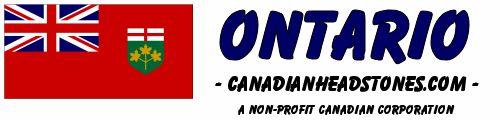 View Headstone Photos from across Ontario