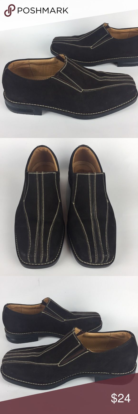 SANDRO MOSCOLONI suede loafers These leather suede loafers with top stitching are in like new condition!     (SA14) Sandro Moscoloni Shoes Loafers & Slip-Ons