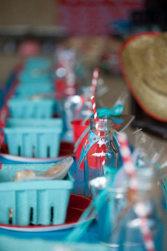 Cowboy Western Farm 1st birthday party found via Kara's Party Ideas - www.karaspartyideas.com
