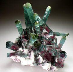 crystals: Green Tourmaline, Watermelontourmalin, Tourmaline Crystals, Crystals Minerals Gemstone, Hall Of Fame, Rocks Minerals Gems, Earth, Stones, Watermelon Tourmaline