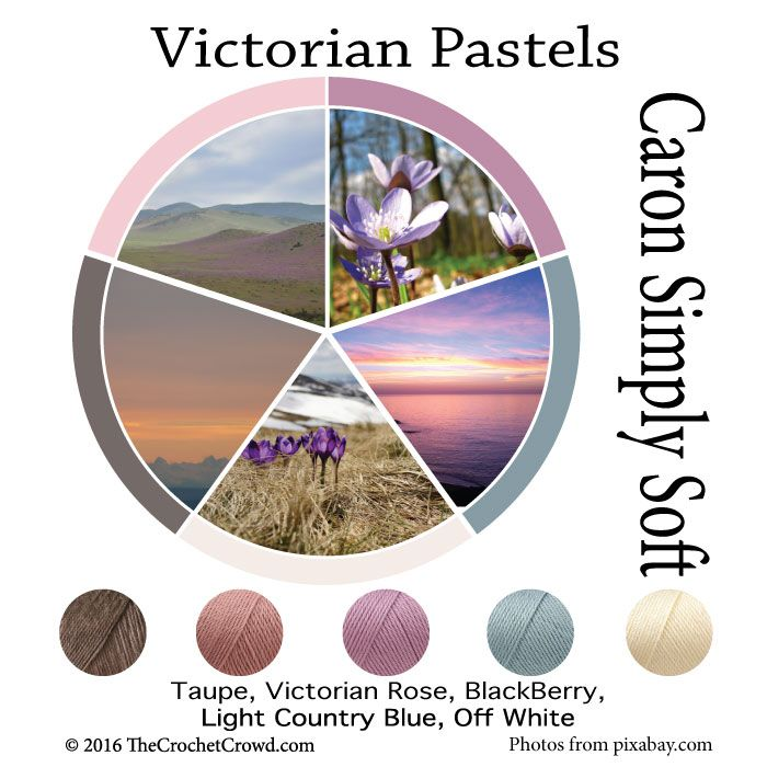 Caron Simply Soft Victorian Pastels Color Combinations