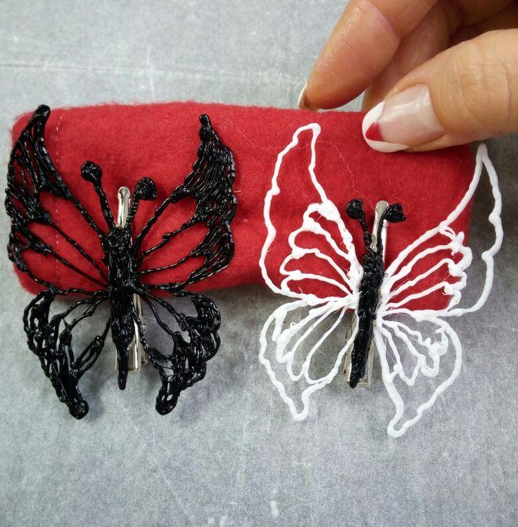 ...una meravigliosa farfalla come ferma cappelli o decorazioni per tende,o altro per video tutorial clicca qui:  https://youtu.be/86hYAN4-XXo