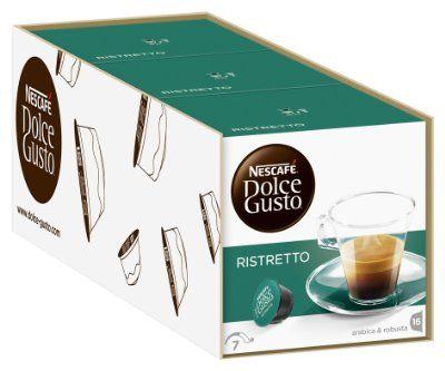 ¡Chollo! Pack 3 cajas de Nestle Cafe Ristretto Dolce Gusto por 7.72 euros.