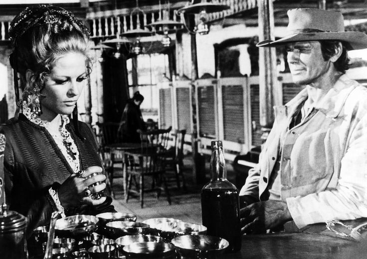 In praise of Sergio Leone! Claudia Cardinale and Charles Bronson in Once Upon a Time in the West.