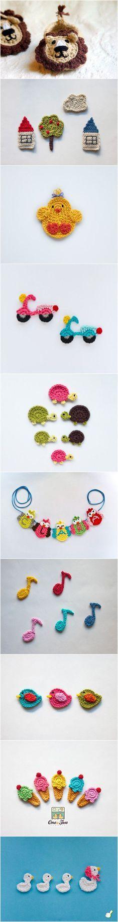Crochet PATTERN - Instant Download for Hummingbird Ornament - Thread crochet applique pattern via Etsy, $2.99