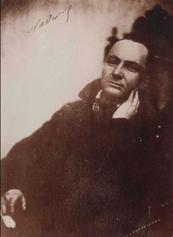Portrait de Charles Baudelaire au fauteuil, by Nadar