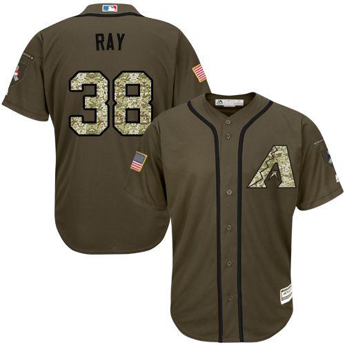 Diamondbacks #38 Robbie Ray Green Salute to Service Stitched MLB Jersey
