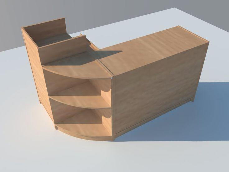 Conjunto Mostrador con modulo caja completo. www.shelf2000.es