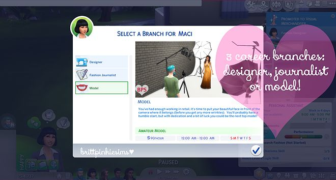 Sims 4 Fashion Career Mod! (Pretty dang good one too.)