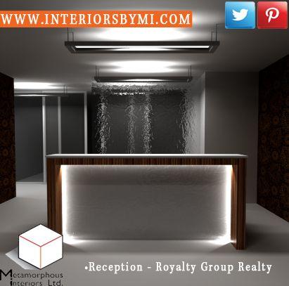 Royalty Group Realty reception    #InteriorDesign #Vision #InteriorSpaces  www.InteriorsBYMI.com