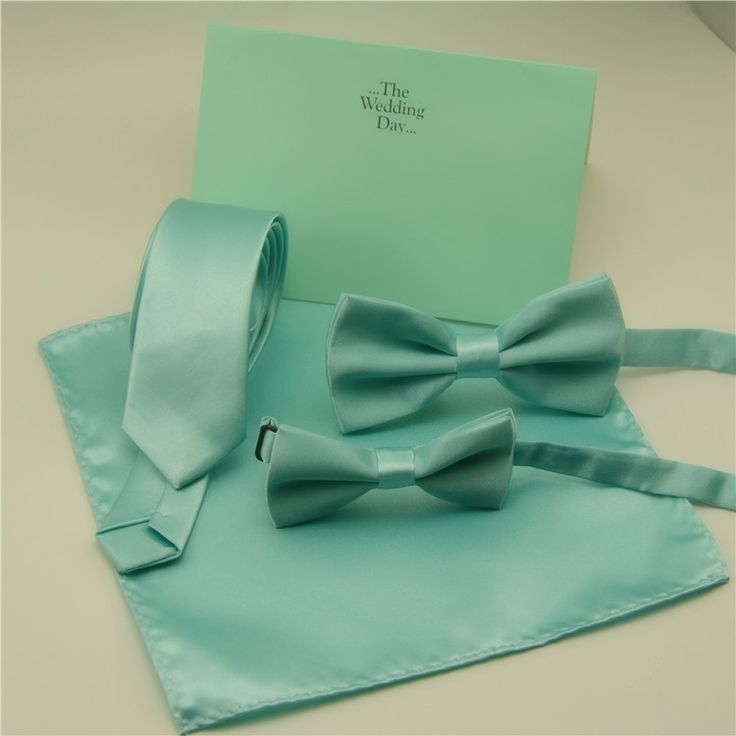 Fashion Bow ties For Men Children Solid Mint Green Bow ties Handkerchief Cravat Adjustable Blue Green Butterfly Pocket Square //Price: $3.24 & FREE Shipping Over 180 countries //    #weddingties